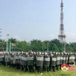 Công an huyện Đô Lương huấn luyện kỹ thuật, chiến thuật, nghiệp vụ Cảnh sát cơ động năm 2018