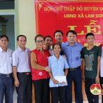 Hội chữ thập đỏ bàn giao nhà cho bà Lê Thị Hiển tại xã Lam Sơn