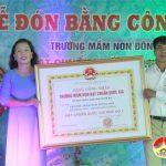 Trường mầm non Đông Sơn:  Đón Bằng công nhận trường đạt chuẩn Quốc gia mức độ 2 và chào mừng ngày hội toàn dân đưa trẻ đến trường