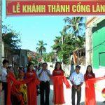 Xóm 4, làng Khánh Khang, Văn Sơn khánh thành cổng làng