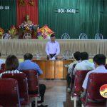 Ban chỉ đạo xây dựng nông thôn mới huyện thẩm định kết quả xây dựng nông thôn mới xã Hiến Sơn.