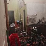 Sét đánh cháy nhà dân ở Đô Lương