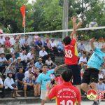 Chung kết giải bóng chuyền nam cán bộ, công chức, người lao động các xã, thị trấn.