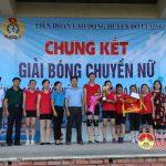 Chung kết giải bóng chuyền nữ cán bộ công nhân, viên chức và người lao động.
