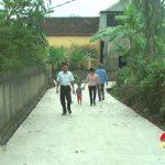 Xã Hồng Sơn đầu tư 1 tỷ đồng làm đường bê tông nông thôn
