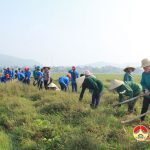 Xã Thái Sơn huy động gần 200 người ra quân làm giao thông thuỷ lợi