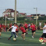 Quỹ TYM và Hội LHPN xã Tràng Sơn khai mạc giải bóng đá nữ 2018