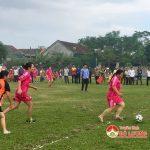 Hội phụ nữ xã Nam Sơn tổ chức giải bóng đá nữ chào mừng ngày 20/10