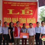Hội chữ thập đỏ huyện trao nhà tình nghĩa cho chị Phan Thị Bình