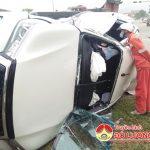 Đô Lương: Xe tải tông xe con tại ngã tư, tài xế may mắn thoát chết