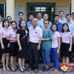 Khối Văn hóa – Xã hội huyện chúc mừng Ngân hàng Chính sách nhân ngày truyền thống