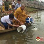 Đô Lương: Thả cá giống tái tạo nguồn thủy sản năm 2018