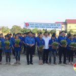 Huyện Đoàn Đô Lương xây dựng công trình đường hoa tại xã Trung Sơn.