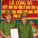 Công an Đô Lương trao quyết định luân chuyển Công an chính quy về làm trưởng Công an xã.
