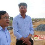 Đồng chí Ngọc Kim Nam – Bí thư huyện ủy kiểm tra tại xã Tân Sơn và Thái Sơn