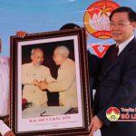 Đồng chí Vương Đình Huệ – Ủy viên Bộ chính trị, Phó thủ tướng chính phủ về dự ngày hội Đại đoàn kết dân tộc tại xóm Thanh Lương, xã Hiến Sơn