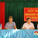 Thường trực Huyện ủy, HĐND, UBND huyện đối thoại với nhân dân xã Mỹ Sơn