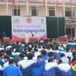 """Huyện đoàn Đô Lương tổ chức """"phiên tòa giả định"""" tuyên truyền pháp luật về phòng chống bạo lực học đường"""