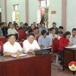 Đồng chí Ngọc Kim Nam – Bí thư huyện ủy tham dự sinh hoạt đảng với Đảng bộ Đà Sơn