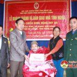 Hội Cựu chiến binh huyện trao nhà đồng đội tại xã Giang Sơn Đông.