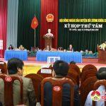 Đồng chí Lê Minh Giang – PBTT trực huyện ủy – Chủ tịch HĐND huyện đã đưa ra 9 nhiệm vụ và giải pháp trong thời gian tới