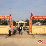 Hội đồng thẩm định nông thôn mới tỉnh thẩm định kết quả xây dựng nông thôn mới xã Hiến Sơn.