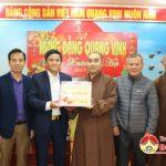 Hội phật giáo huyện chúc mừng Huyện ủy nhân ngày thành lập Đảng và tết cổ truyền