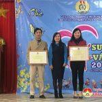 Trao thưởng Giấy khen, Cờ thi đua, Bằng khen cho các tổ chức Công Đoàn cơ sở đạt thành tích xuất sắc năm 2019.