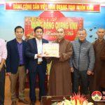 Hội phật giáo huyện chúc mừng Huyện ủy Đô Lương nhân ngày thành lập Đảng và tết cổ truyền