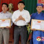 Xã Thịnh Sơn tổ chức lễ đón nhận bằng công nhận danh hiệu xóm và dòng họ văn hóa năm 2018.