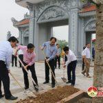 Xã Lam Sơn tổ chức trồng cây tại chùa Bà Bụt
