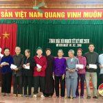 Xã Mỹ Sơn: Trao 78 suất quà cho hộ gia đình nghèo và khó khăn
