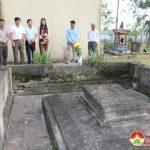 Sở Văn hóa & Thể thao tỉnh, ban quản lý di tích tỉnh khảo sát miếu Đông Sơn