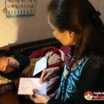 Hội chữ thập đỏ huyện thăm và trao 13 triệu đồng cho gia đình chị Sử