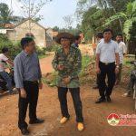 Đồng chí Ngọc Kim Nam kiểm tra tiến độ xây dựng 1 số công trình trên địa bàn