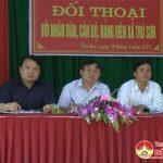 Thường trực huyện Huyện ủy- HĐND- UBND huyện tiếp xúc đối thoại với cán bộ và nhân dân xã Trù Sơn.