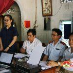 Thanh tra Bộ văn hóa kiểm tra tại Đền Quả Sơn.