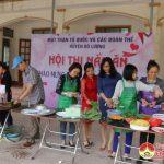 Nữ công UBMTTQ huyện và các đoàn thể tổ chức hội thi nấu ăn