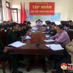 Đô Lương: Tham gia hội nghị trực tuyến tập huấn luật quốc phòng năm 2018