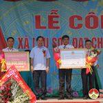 Xã Lưu Sơn tổ chức lễ đón xã đạt chuẩn nông thôn mới.