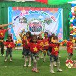 Trường mầm non Quang Sơn: Tổ chức chương trình ấm tình quân dân nhí