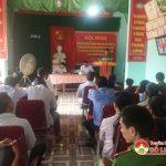 Công an Tân Sơn: Tổ chức hội nghị kiểm điểm đối tượng vi phạm pháp luật, triển khai kế hoạch bỏ phiếu tố giác tội phạm và tệ nạn xã hội.
