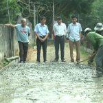 Xã Ngọc Sơn xây dựng 1 km đường bê tông nông thôn theo tiêu chí nông thôn mới