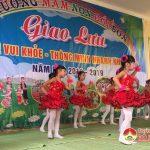 Trường Mầm non Bồi Sơn tổ chức hội thi Bé vui khỏe, thông minh, nhanh nhẹn