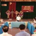 Thường trực Huyện ủy làm việc với Đảng ủy xã Đà Sơn