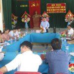 Ban chỉ đạo NTM huyện thẩm tra kết quả xây dựng nông thôn mới xã  Ngọc Sơn.