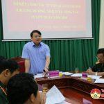 Hội đồng nghĩa vụ quân sự huyện đánh giá công tác tuyển quân
