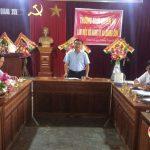 Thường trực huyện ủy làm việc với Đảng ủy xã Quang Sơn.