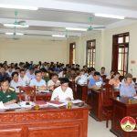 Huyện Đô Lương tổ chức giao nhiệm vụ diễn tập năm 2019