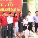 Hội chữ thập đỏ huyện Đô Lương: Bàn giao nhà cho tình nghĩa cho chị Trần Thị Hoàn ở xã Nam Sơn.